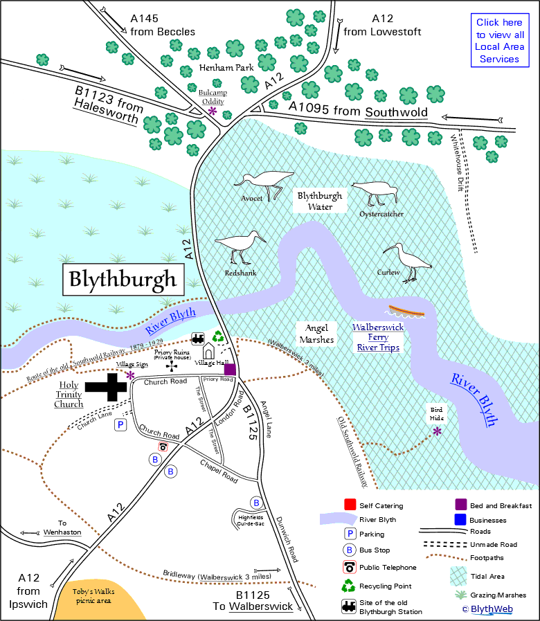 Blythburgh village map